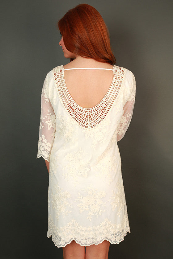 Angel Lace Mini Dress