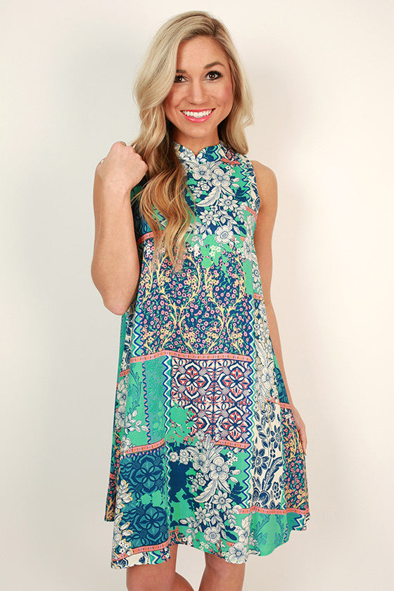 Minted Bliss Shift Dress
