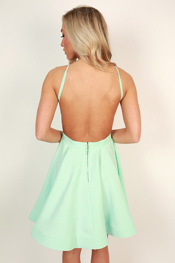 To Die For Fit & Flare Dress in Mint