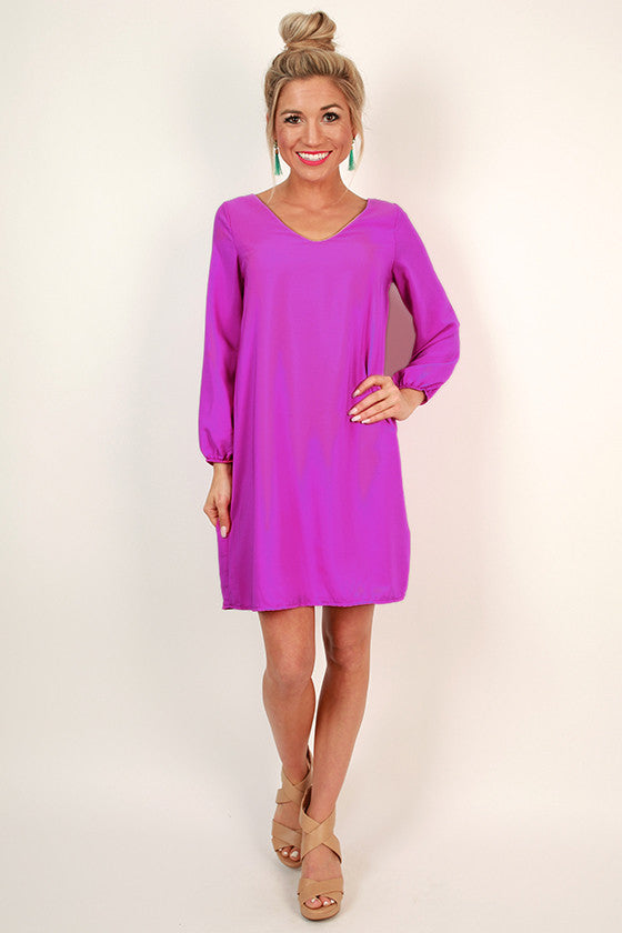 Party On The Patio Shift Dress in Orchid