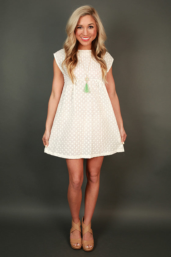 Sweet Eyelet Shift Dress