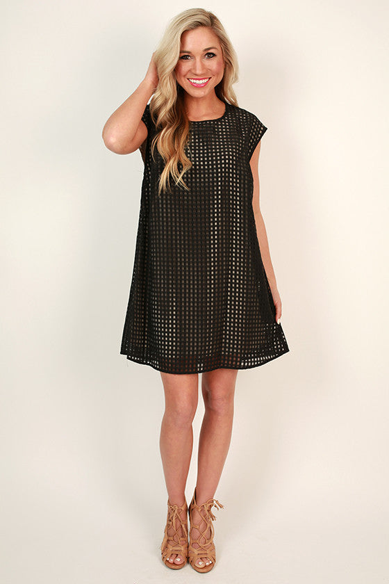 Squared Away Shift Dress