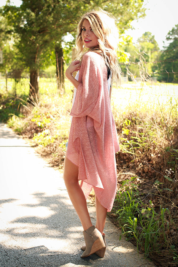 Brunch Cuddles Cardigan in Peach