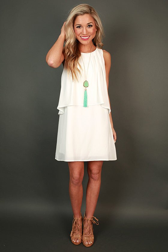 Paris Luxe Shift Dress in White