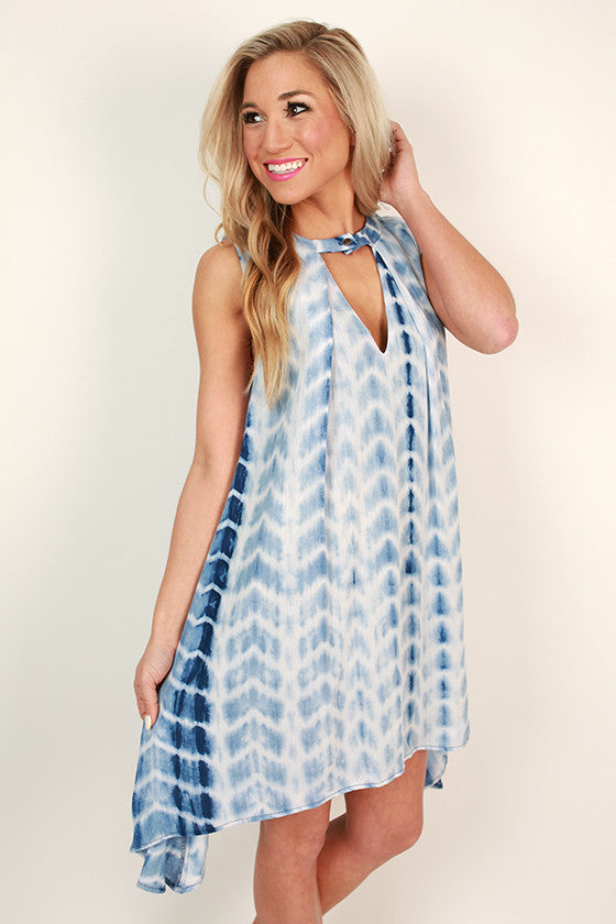 Toes In The Sand Tie Dye Shift Dress