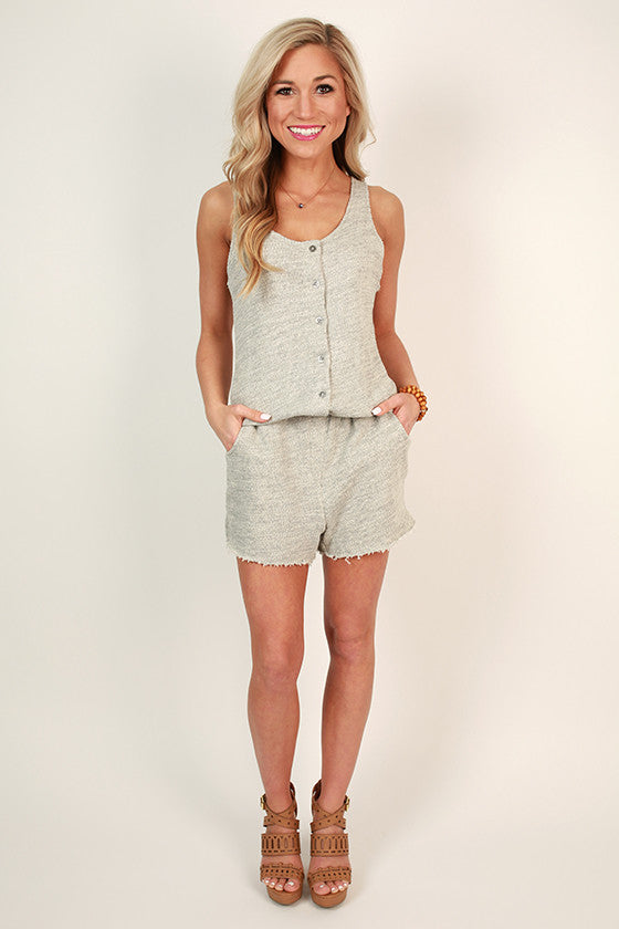 Luxe French Terry Romper