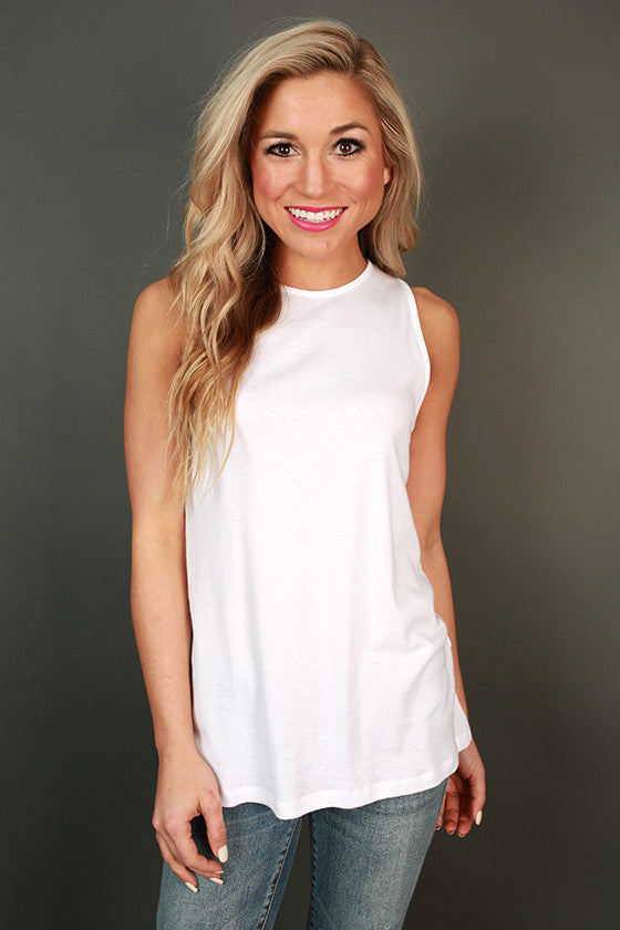 Highland Shift Tank in White