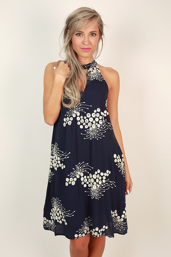 Weekend Wonderful Shift Dress in Navy