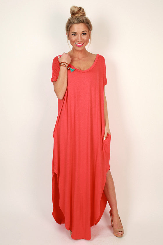 Beachy Keen T-shirt Maxi in Raspberry