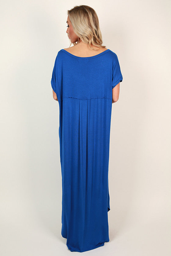 Beachy Keen T-shirt Maxi in Royal Blue