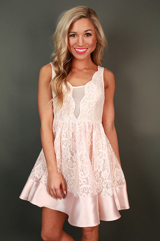 Loyal Lace Fit & Flare Dress