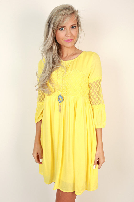 Easy Breezy Shift Dress in Yellow