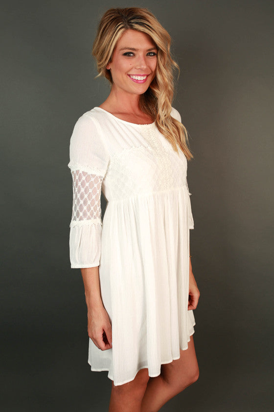 Easy Breezy Shift Dress in White