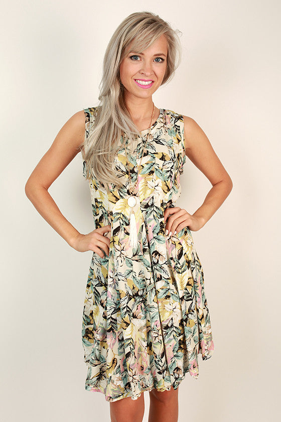 Cabana Cutie Tropical Shift Dress