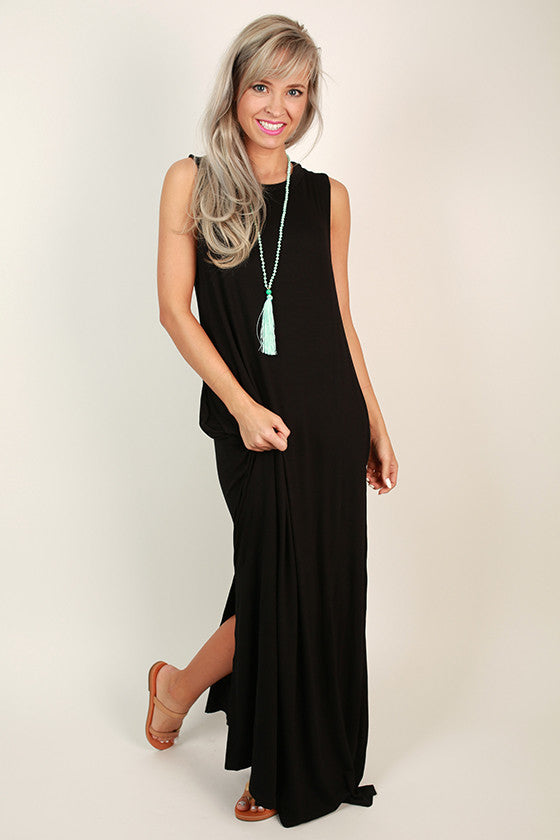 Shop Til' I Drop Maxi in Black