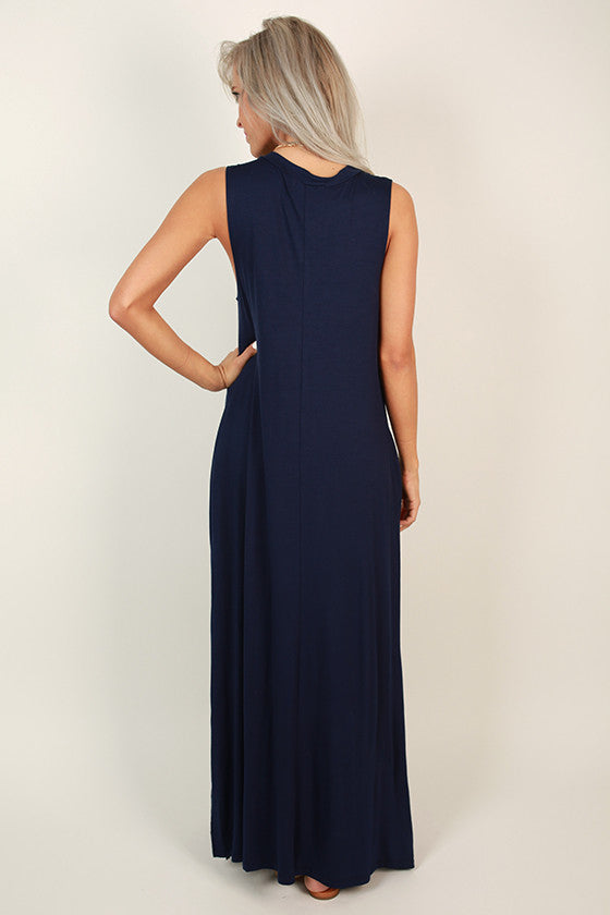 Shop Til' I Drop Maxi in Navy