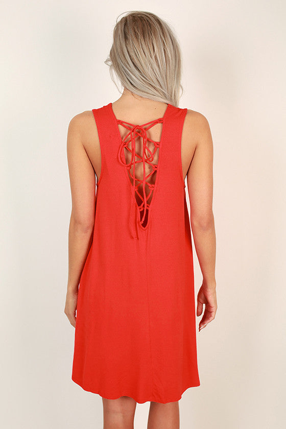 Vacation Vibes Shift Dress in Red