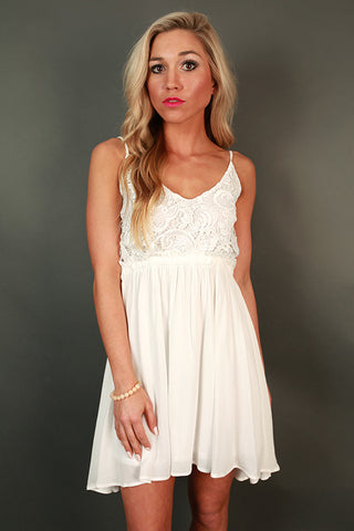 The Mini Reveal Dress in White