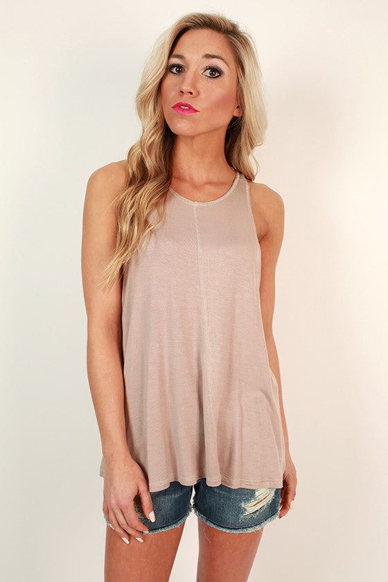 Everyday Perfection Shift Tank in Birch