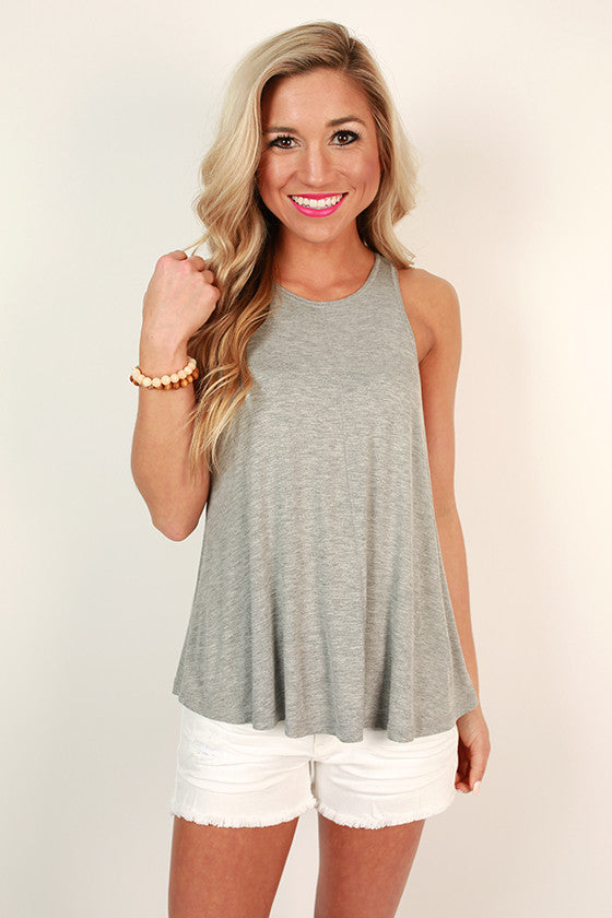 Everyday Perfection Shift Tank in Grey