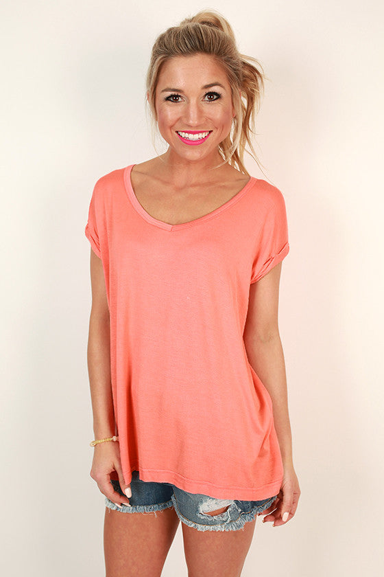 Always The Favorite Shift Tee in Peach Echo