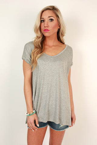 Always The Favorite Shift Tee in Grey