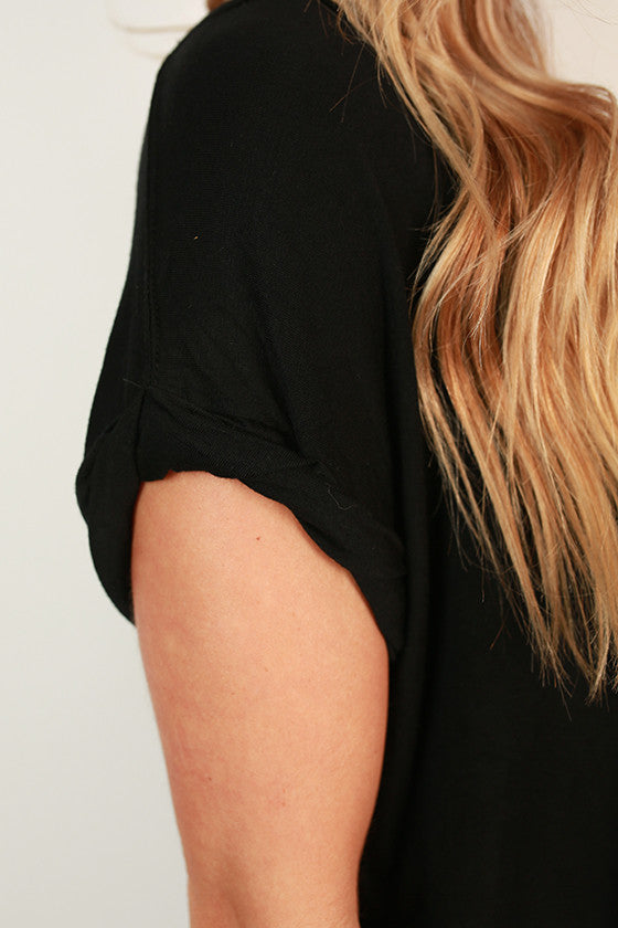 Always The Favorite Shift Tee in Black