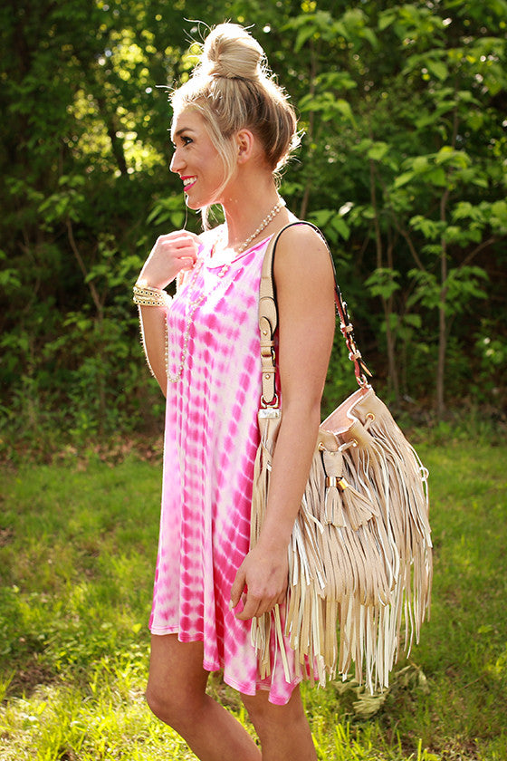 Gorgeous Companion Fringe Bag in Iced Coffee