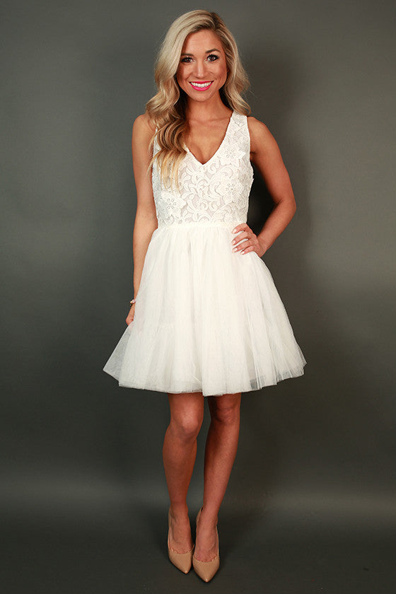 Royal Brunch Lace Fit & Flare Dress