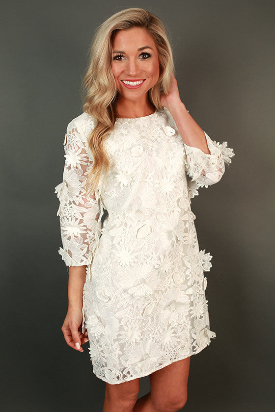 Champagne & Lace Mini Dress