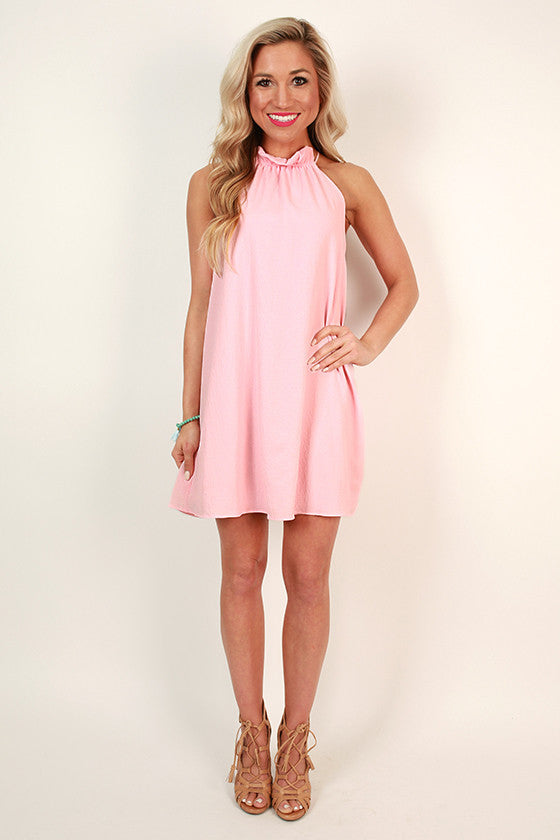 Pretty Prestige Shift Dress in Rose Quartz