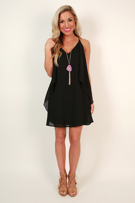 Southern Sangria Shift Dress in Black