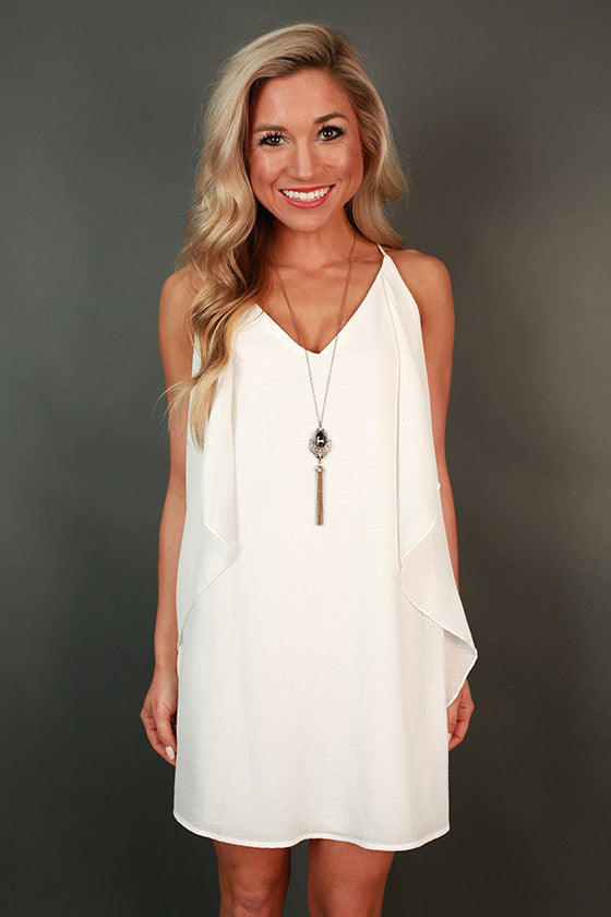 Southern Sangria Shift Dress in White