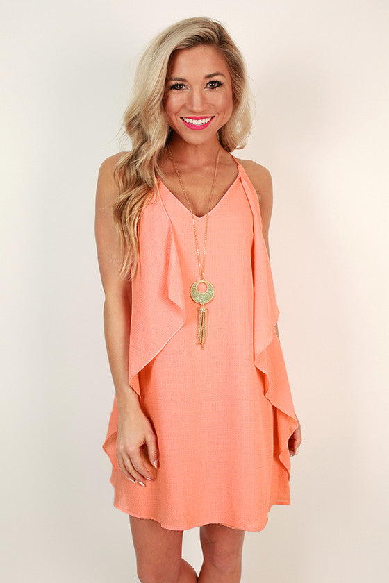 Southern Sangria Shift Dress in Peach