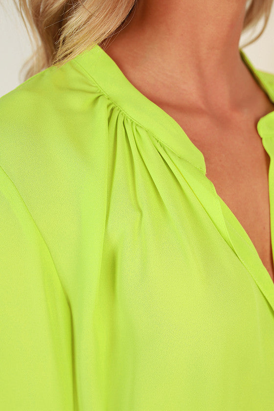 Juniper Darling Top in Wild Lime