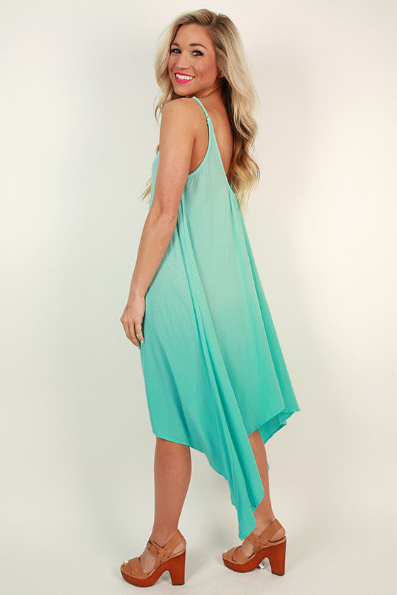 Key West Ombre Dress in Aqua Sky