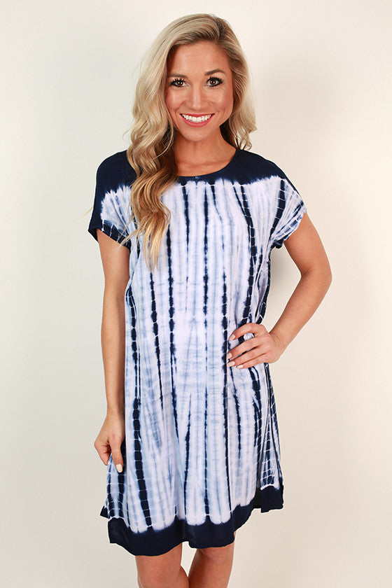 Sanibel Midnight Tie Dye Dress