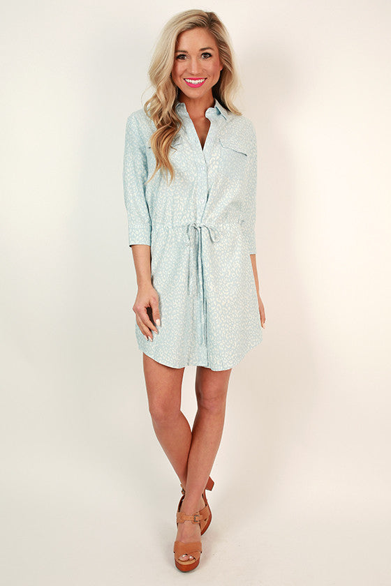 Orlando Cheetah Chambray Dress