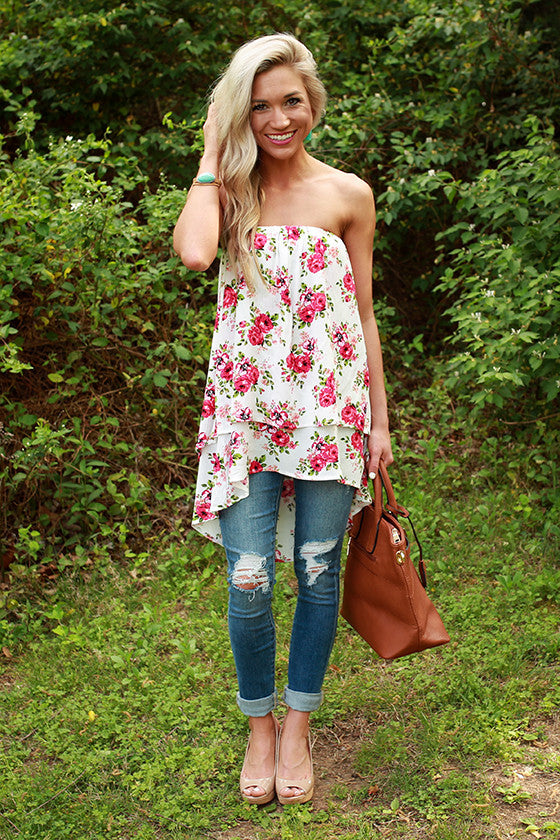 The Lou Lou Layered Top in Malibu Floral