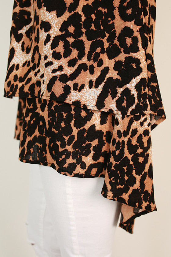 The Lou Lou Layered Top in Leopard