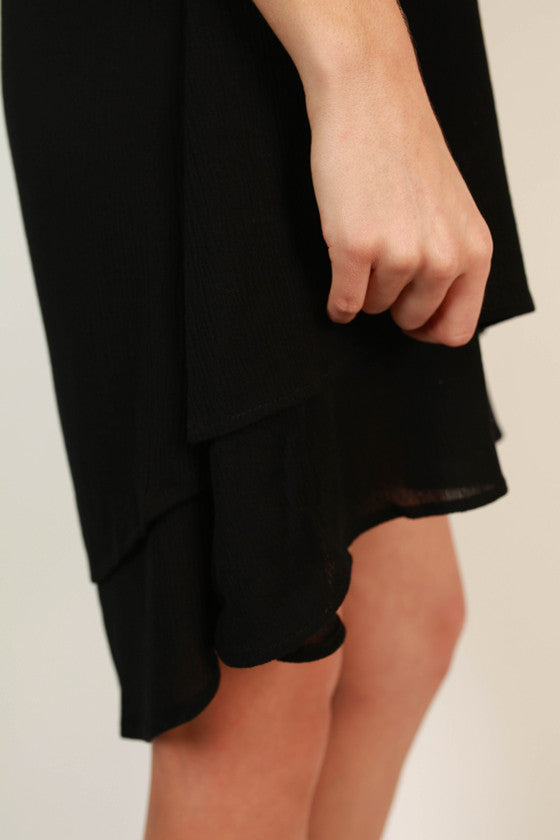 The Ava Layered Dress in Black