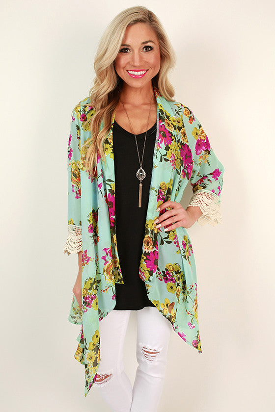 The Eve Chiffon Overlay in Mint Kiss Floral