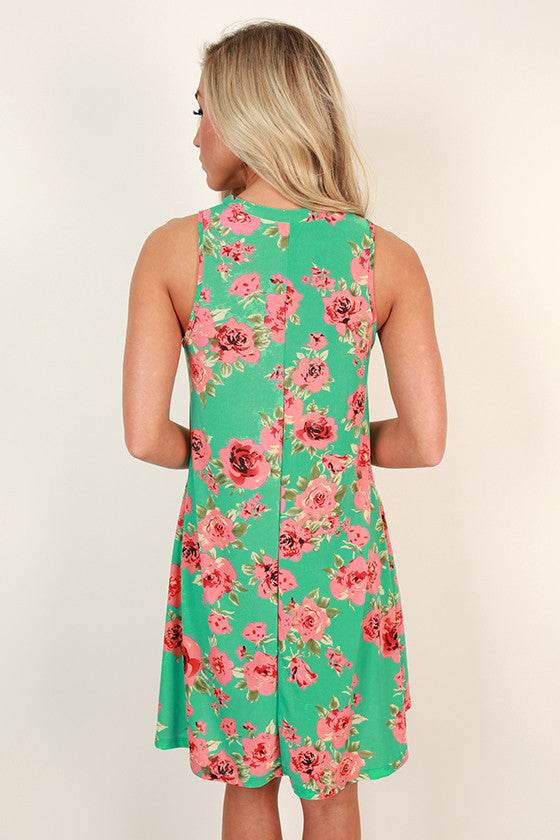 The Lola Tank Dress in Laguna Floral