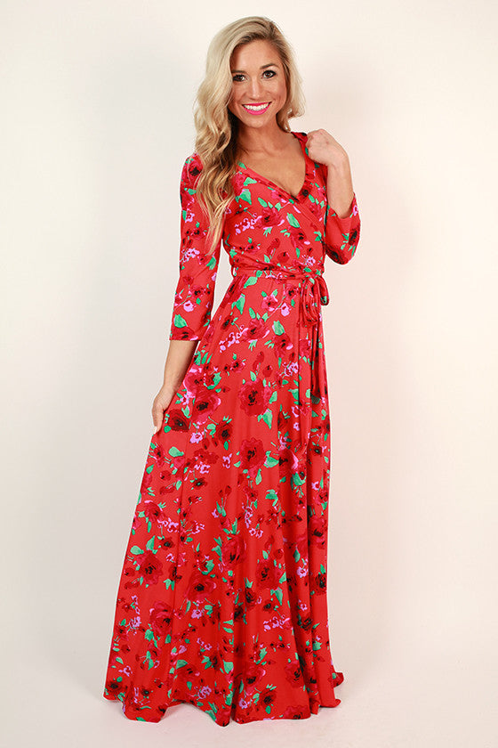 The Fields Of Pretty Maxi In Strawberry Margarita Floral
