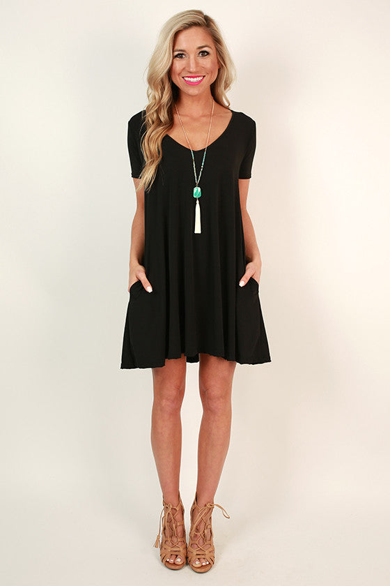 The Emma Shift Dress in Black