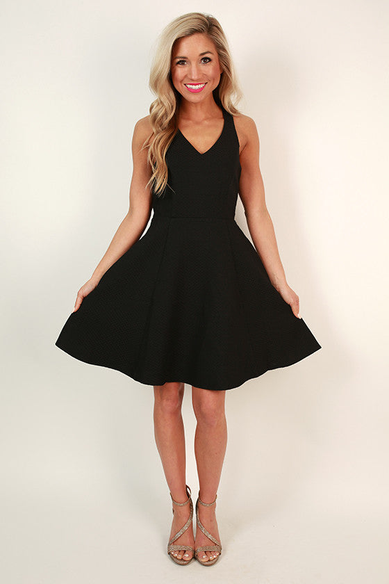 Dating Prince Charming Fit & Flare Dress in Black