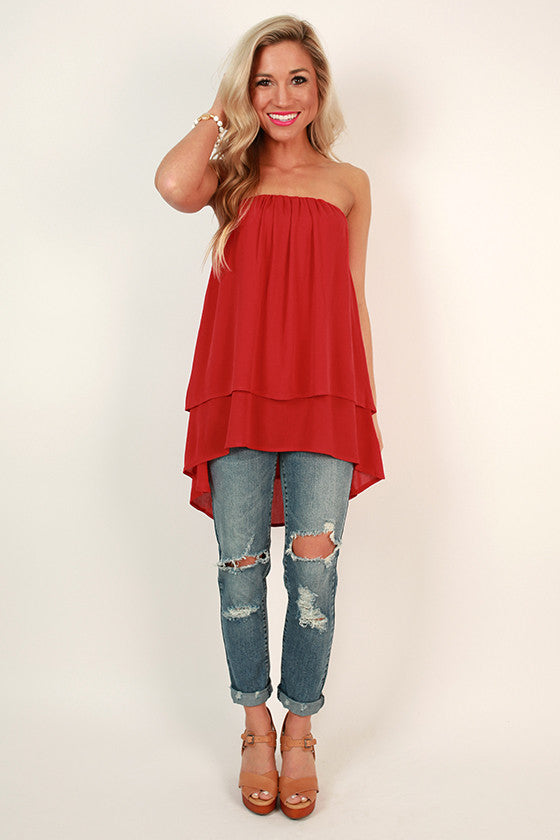 The Lou Lou Layered Top in Strawberry Margarita