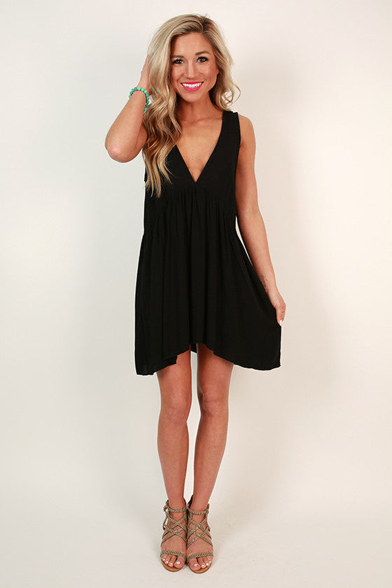 All Mine Baby Doll Tunic in Black