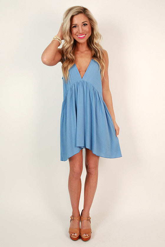 All Mine Baby Doll Tunic in Sky Blue
