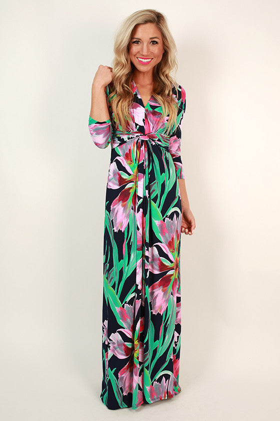 Parisian Garden Maxi Dress